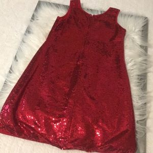 Dresses - Gorgeous girls red sequin dress